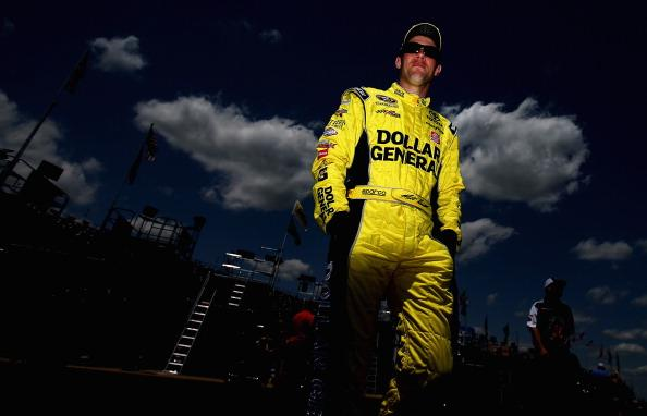 TALLADEGA, AL - MAY 02:  Matt Kenseth, driver of the #20 Dollar General Toyota, walks through the garage area during practice for the NASCAR Sprint Cup Series Aaron's 499 at Talladega Superspeedway on May 2, 2014 in Talladega, Alabama.  (Photo by Sean Gardner/Getty Images)