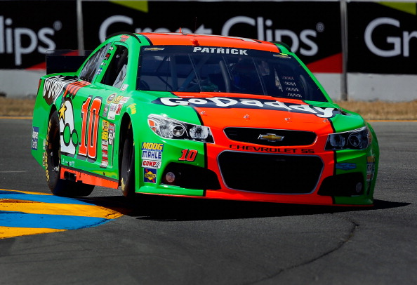 SONOMA, CA - JUNE 21:  Danica Patrick, driver of the #10 GoDaddy Chevrolet, qualifies for the NASCAR Sprint Cup Series Toyota/Save Mart 350 at Sonoma Raceway on June 21, 2014 in Sonoma, California.  (Photo by Tom Pennington/Getty Images)