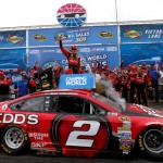 LOUDON, NH - JULY 13:  Brad Keselowski, driver of the #2 Redds Ford, celebrates in victory lane after winning the NASCAR Sprint Cup Series Camping World RV Sales 301 at New Hampshire Motor Speedway on July 13, 2014 in Loudon, New Hampshire.  (Photo by Jonathan Ferrey/Getty Images)
