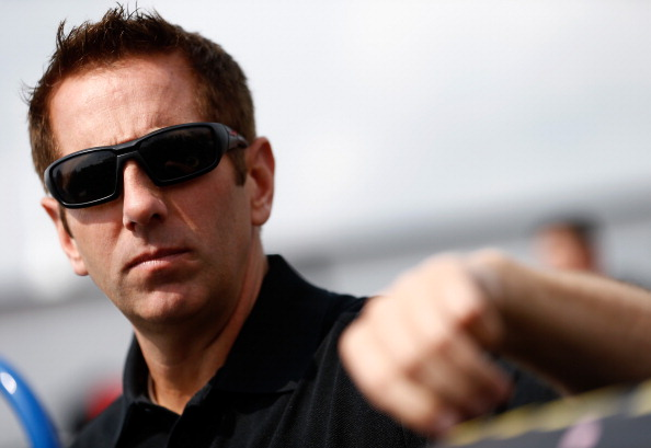 LONG POND, PA - AUGUST 01:  Greg Biffle, driver of the #16 3M Ford,rstands in the garage area during practice for the NASCAR Sprint Cup Series GoBowling.com 400 at Pocono Raceway on August 1, 2014 in Long Pond, Pennsylvania.  (Photo by Jeff Zelevansky/Getty Images)