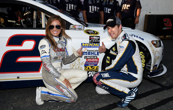 Brad Keselowski celebrates after qualifying for the NASCAR Sprint Cup Series Federated Auto Parts 400 at Richmond International Raceway on September 5, 2014 in Richmond, Virginia. (Getty Images)