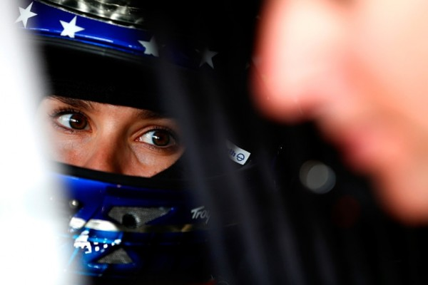 Danica Patrick prepares to  practice for the NASCAR Sprint Cup Series Goody's Headache Relief Shot 500 at Martinsville Speedway on October 24, 2014 in Martinsville, Virginia. (Getty Images)