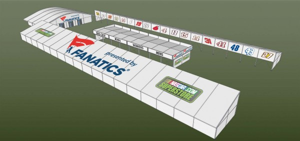 NASCAR released drawings of the new fan merchandise area Wednesday. (NASCAR)