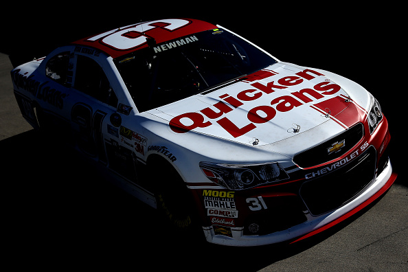 MARTINSVILLE, VA - MARCH 28:  Ryan Newman drives the #31 Quicken Loans Chevrolet through the garage area during practice for the NASCAR Sprint Cup Series STP 500 at Martinsville Speedway on March 28, 2015 in Martinsville, Virginia.  (Photo by Justin Edmonds/Getty Images)