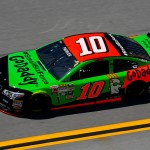 TALLADEGA, AL - MAY 01: Danica Patrick, driver of the #10 GoDaddy Chevrolet, practices for the NASCAR Sprint Cup Series GEICO 500 at Talladega Superspeedway on May 1, 2015 in Talladega, Alabama.  (Photo by Matt Sullivan/Getty Images)