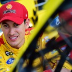 TALLADEGA, AL - MAY 01:  Joey Logano, driver of the #22 Shell Pennzoil Ford, stands in the garage area during practice for the NASCAR Sprint Cup Series GEICO 500 at Talladega Superspeedway on May 1, 2015 in Talladega, Alabama.  (Photo by Jared C. Tilton/Getty Images)