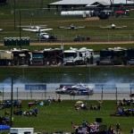 TALLADEGA, AL - MAY 03: Cars are involved in an incident on the backstretch during the NASCAR Sprint Cup Series GEICO 500 at Talladega Superspeedway on May 3, 2015 in Talladega, Alabama.  (Photo by Jared C. Tilton/Getty Images)