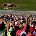 TALLADEGA, AL - MAY 03:  Fans of Dale Earnhardt Jr., driver of the #88 Nationwide Chevrolet, celebrate after the NASCAR Sprint Cup Series GEICO 500 at Talladega Superspeedway on May 3, 2015 in Talladega, Alabama.  (Photo by Maddie Meyer/Getty Images)