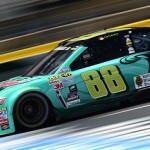 CHARLOTTE, NC - MAY 15:  Dale Earnhardt Jr., driver of the #88 Mountain Dew Baja Blast Chevrolet, practices for the NASCAR Sprint Cup Series All-Star Race at Charlotte Motor Speedway on May 15, 2015 in Charlotte, North Carolina.  (Photo by Jared C. Tilton/Getty Images)