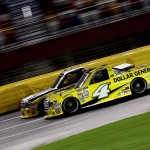 CHARLOTTE, NC - MAY 15:  Erik Jones, driver of the #4 Dollar General Toyota, races during the NASCAR Camping World Truck Series North Carolina Education Lottery 200 at Charlotte Motor Speedway on May 15, 2015 in Charlotte, North Carolina.  (Photo by Brian Lawdermilk/Getty Images)