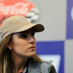 CHARLOTTE, NC - MAY 24:  Taya Kyle, widow of American Sniper Chris Kyle, speaks to the media during a press conference prior to the NASCAR Sprint Cup Series Coca-Cola 600 at Charlotte Motor Speedway on May 24, 2015 in Charlotte, North Carolina.  (Photo by Daniel Shirey/Getty Images)