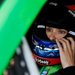 DOVER, DE - MAY 30:  Danica Patrick, driver of the #10 GoDaddy Chevrolet, sits in her car in the garage area during practice for the NASCAR Sprint Cup Series FedEx 400 Benefiting Autism Speaks at Dover International Speedway on May 30, 2015 in Dover, Delaware.  (Photo by Todd Warshaw/Getty Images)