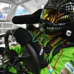 BROOKLYN, MI - JUNE 12:  Kyle Busch, driver of the #54 Monster Energy Toyota, sits in his car during practice for the NASCAR XFINITY Series Great Clips 250 at Michigan International Speedway on June 12, 2015 in Brooklyn, Michigan.  (Photo by Drew Hallowell/Getty Images)