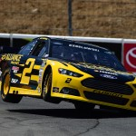 SONOMA, CA - JUNE 27:  Brad Keselowski, driver of the #2 Alliance Truck Parts Ford, qualifies for the NASCAR Sprint Cup Series Toyota/Save Mart 350 at Sonoma Raceway on June 27, 2015 in Sonoma, California.  (Photo by Jared C. Tilton/Getty Images)