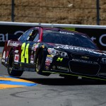 SONOMA, CA - JUNE 27:  Jeff Gordon, driver of the #24 AARP Member Advantages Chevrolet, qualifies for the NASCAR Sprint Cup Series Toyota/Save Mart 350 at Sonoma Raceway on June 27, 2015 in Sonoma, California.  (Photo by Jared C. Tilton/Getty Images)