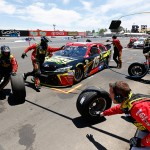 SONOMA, CA - JUNE 28:  Clint Bowyer, driver of the #15 5-Hour Energy Toyota, pits during the NASCAR Sprint Cup Series Toyota/Save Mart 350 at Sonoma Raceway on June 28, 2015 in Sonoma, California.  (Photo by Jerry Markland/Getty Images)