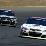 during the NASCAR Sprint Cup Series Toyota/Save Mart 350 at Sonoma Raceway on June 28, 2015 in Sonoma, California.