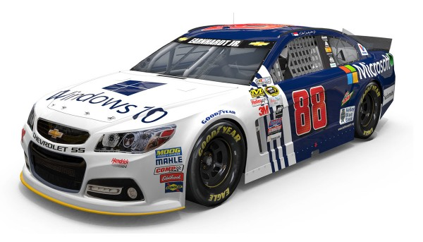 Microsoft will support the upcoming launch of Windows 10 with primary sponsorship of Dale Earnhardt Jr.'s No. 88 Chevrolet SS at Sonoma Raceway on June 28 and Pocono Raceway on August 2.