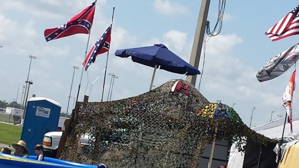 There were only a few Confederate flags to be seen in the infield at Daytona Friday (Photo: Greg Engle)