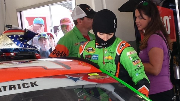 Danica Patrick prepares to practice Friday at Daytona (Photo: Greg Engle)