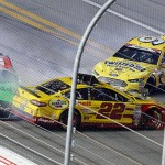 during the NASCAR Sprint Cup Series Coke Zero 400 Powered by Coca-Cola at Daytona International Speedway on July 5, 2015 in Daytona Beach, Florida.
