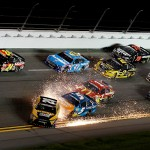 during the NASCAR Sprint Cup Series Coke Zero 400 Powered by Coca-Cola at Daytona International Speedway on July 6, 2015 in Daytona Beach, Florida.