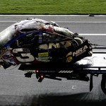DAYTONA BEACH, FL - JULY 06:  The #3 Bass Pro Shops Chevrolet, driven by Austin Dillon, is driven off the track following an incident on the last lap during the NASCAR Sprint Cup Series Coke Zero 400 Powered by Coca-Cola at Daytona International Speedway on July 6, 2015 in Daytona Beach, Florida.  (Photo by Patrick Smith/Getty Images)