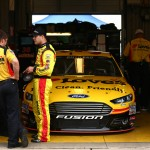 during practice for the NASCAR Sprint Cup Series Quaker State 400 Presented by Advance Auto Parts at Kentucky Speedway on July 10, 2015 in Sparta, Kentucky.