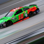 SPARTA, KY - JULY 10:  Danica Patrick, driver of the #10 GoDaddy Chevrolet, practices for the NASCAR Sprint Cup Series Quaker State 400 Presented by Advance Auto Parts at Kentucky Speedway on July 10, 2015 in Sparta, Kentucky.  (Photo by Sarah Crabill/Getty Images)