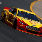 LOUDON, NH - JULY 17:  Joey Logano, driver of the #22 Shell Pennzoil Ford, practices for the NASCAR Sprint Cup Series 5-Hour Energy 301 at New Hampshire Motor Speedway on July 17, 2015 in Loudon, New Hampshire.  (Photo by Jeff Zelevansky/Getty Images)