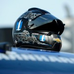 LOUDON, NH - JULY 17:  The helmet of Dale Earnhardt Jr. (not pictured), driver of the #88 Nationwide Chevrolet, is seen on the grid during qualifying for the NASCAR Sprint Cup Series 5-Hour Energy 301 at New Hampshire Motor Speedway on July 17, 2015 in Loudon, New Hampshire.  (Photo by Jeff Curry/Getty Images)