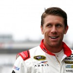 LOUDON, NH - JULY 18:  Carl Edwards, driver of the #19 Sport Clips Toyota, walks through the garage area during practice for the NASCAR Sprint Cup Series 5-Hour Energy 301 at New Hampshire Motor Speedway on July 18, 2015 in Loudon, New Hampshire.  (Photo by Jeff Zelevansky/Getty Images)