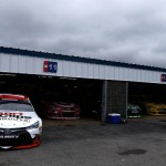 LOUDON, NH - JULY 18:  The #19 Sport Clips Toyota, driven by Carl Edwards (not pictured), is seen in the garage area during practice for the NASCAR Sprint Cup Series 5-Hour Energy 301 at New Hampshire Motor Speedway on July 18, 2015 in Loudon, New Hampshire.  (Photo by Jeff Zelevansky/Getty Images)