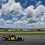 during the NASCAR Sprint Cup Series Windows 10 400 at Pocono Raceway on August 2, 2015 in Long Pond, Pennsylvania.