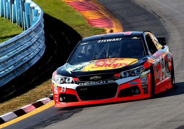 Tony Stewart on track during practice for the NASCAR Sprint Cup Series Cheez-It 355 at Watkins Glen International on Friday, August 7, 2015 in Watkins Glen, New York.