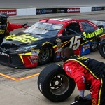 BROOKLYN, MI - AUGUST 16:  Clint Bowyer, driver of the #15 5-Hour Energy Toyota, pits during the NASCAR Sprint Cup Series Pure Michigan 400 at Michigan International Speedway on August 16, 2015 in Brooklyn, Michigan.  (Photo by Sarah Crabill/Getty Images)