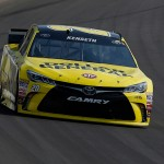 BROOKLYN, MI - AUGUST 16:  Matt Kenseth, driver of the #20 Dollar General Toyota, leads during the NASCAR Sprint Cup Series Pure Michigan 400 at Michigan International Speedway on August 16, 2015 in Brooklyn, Michigan.  (Photo by Gregory Shamus/Getty Images)