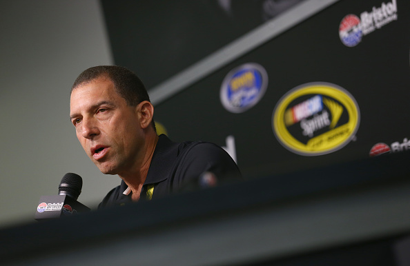 BRISTOL, TN - AUGUST 21:  Team owner Rob Kauffman speaks to the media during a press conference prior to practice for the NASCAR Sprint Cup Series Irwin Tools Night Race at Bristol Motor Speedway on August 21, 2015 in Bristol, Tennessee.  (Photo by Tom Pennington/Getty Images)