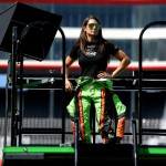 BRISTOL, TN - AUGUST 21: Danica Patrick, driver of the #10 GoDaddy Chevrolet, stands on top of her hauler during practice for the NASCAR Sprint Cup Series Irwin Tools Night Race at Bristol Motor Speedway on August 21, 2015 in Bristol, Tennessee.  (Photo by Sean Gardner/Getty Images)