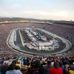 BRISTOL, TN - AUGUST 22: A general view of the speedway during the NASCAR Sprint Cup Series IRWIN Tools Night Race at Bristol Motor Speedway on August 22, 2015 in Bristol, Tennessee.  (Photo by Tim Bradbury/Getty Images)