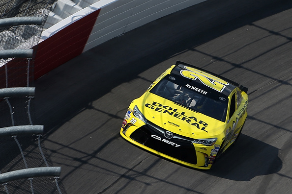 DARLINGTON, SC - SEPTEMBER 05:  Matt Kenseth, driver of the #20 Dollar General Toyota, qualifies for the NASCAR Sprint Cup Series Bojangles' Southern 500 at Darlington Raceway on September 5, 2015 in Darlington, South Carolina.  (Photo by Matt Hazlett/Getty Images)
