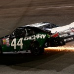 RICHMOND, VA - SEPTEMBER 11:  David Starr, driver of the #44 Zachry Toyota, has an on track incident during the NASCAR XFINITY Series Virginia529 College Savings 250 at Richmond International Raceway on September 11, 2015 in Richmond, Virginia.  (Photo by Sarah Crabill/Getty Images)
