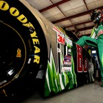 JOLIET, IL - SEPTEMBER 18:  Dale Earnhardt Jr, driver of the #88 DIET MOUNTAIN DEW Chevrolet, gets in his car during practice for the NASCAR Sprint Cup Series myAFibRisk.com 400 at Chicagoland Speedway on September 18, 2015 in Joliet, Illinois.  (Photo by Sean Gardner/Getty Images)