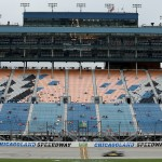 JOLIET, IL - SEPTEMBER 18:  A view of on-track action during qualifying for the NASCAR Camping World Truck Series American Ethanol E15 225 at Chicagoland Speedway on September 18, 2015 in Joliet, Illinois.  (Photo by Matt Sullivan/Getty Images)