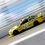 JOLIET, IL - SEPTEMBER 19: Matt Kenseth, driver of the #20 Dollar General Toyota, practices for the NASCAR Sprint Cup Series MyAFibRisk.com 400 at Chicagoland Speedway on September 19, 2015 in Joliet, Illinois. (Photo by Jonathan Ferrey/Getty Images)