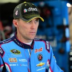 LOUDON, NH - SEPTEMBER 26:  Kevin Harvick, driver of the #4 Ditech Chevrolet, stands in the garage area during practice for the NASCAR Sprint Cup Series Sylvania 300 at New Hampshire Motor Speedway on September 26, 2015 in Loudon, New Hampshire.  (Photo by Jared C. Tilton/Getty Images)