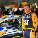 LOUDON, NH - SEPTEMBER 26:  Ryan Newman, driver of the #31 Caterpillar Chevrolet, stands in the garage area during practice for the NASCAR Sprint Cup Series Sylvania 300 at New Hampshire Motor Speedway on September 26, 2015 in Loudon, New Hampshire.  (Photo by Chris Trotman/Getty Images)