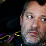 LOUDON, NH - SEPTEMBER 26:  Tony Stewart, driver of the #14 Code 3 Associates/Mobil 1 Chevrolet, sits in his car during practice for the NASCAR Sprint Cup Series Sylvania 300 at New Hampshire Motor Speedway on September 26, 2015 in Loudon, New Hampshire.  (Photo by Jeff Zelevansky/Getty Images)