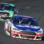LOUDON, NH - SEPTEMBER 26:  Trevor Bayne, driver of the #6 AdvoCare Ford, practices for the NASCAR Sprint Cup Series Sylvania 300 at New Hampshire Motor Speedway on September 26, 2015 in Loudon, New Hampshire.  (Photo by Vaughn Ridley/Getty Images)