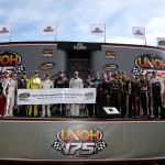 LOUDON, NH - SEPTEMBER 26:  The starting field poses prior to the 500th NASCAR Camping World Truck Series race, the UNOH 175 at New Hampshire Motor Speedway on September 26, 2015 in Loudon, New Hampshire.  (Photo by Sean Gardner/Getty Images)